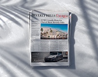 Beverly Hills Courier —Newspaper and masthead redesign.