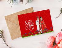 An Indian wedding card