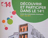 Illustrations for a municipal leaflet of Paris 14events