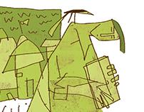 illustration for literature magazine