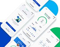 UI/UX Design for Step Tracking App