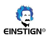 EINSTIGN logo design for education group.