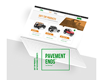 Pavement Ends online store design