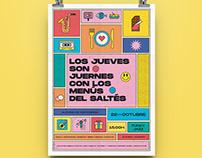 ━ LOS JUEVES SON JUERNES · Gráfica publicitaria