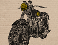 Vintage BSA Motorcycle Art Print