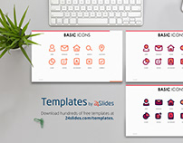 Basic Icons Presentation Template | Free Download