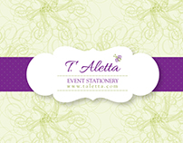 T. Aletta | Event Stationery - Branding
