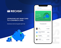 Recash mobile app UI design