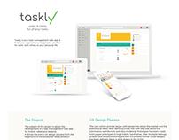 UX Design for taskly, a task management web app