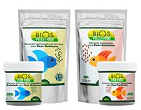 Empaque para la línea de Alimentos para Peces de Bios