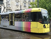 Metrolink Rainbow Tram for Pride 2016