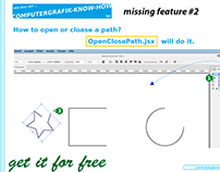Javascript for Illustrator openClosePath