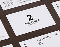 THINK TWICE studio - Name Card