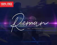 Reman Script - 100% Free Font