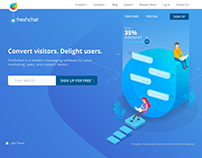 Freshwork - Freshchat website design inspiration