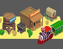 isometric wild west