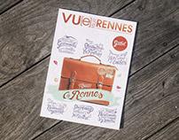 // Handlettering cover Vu[e] sur Rennes //