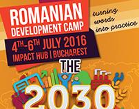 Romanian Development Camp (logo design & visuals)