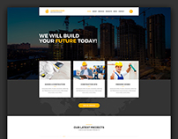 Construction – Building Business PSD Template