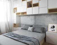 Geek home - sypialnia i łazienka