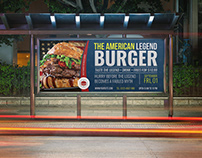 Burger Restaurant Billboard Template Vol.8