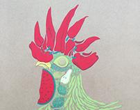 """Live paint on """"Fira Avícola 2017, Pollo con verduras"""""""
