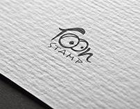 toon stamp logo designing