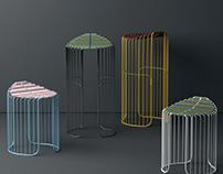 A minimal, light, fluid stool: IRO