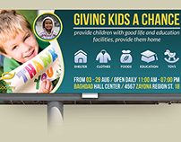 Kids Charity Billboard Template