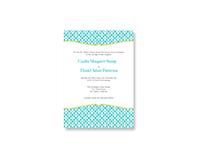 Modern Curve Wedding Invitations