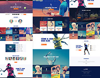 Tennis, Sport Club & Events Theme