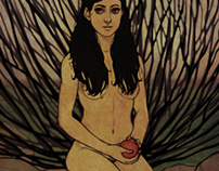 Girl with pomegranate.