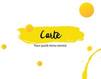 Carte - A Digital Menu Service