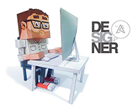 Graphic Designer Paper toy