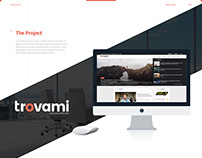 Trovami editorial - Website design
