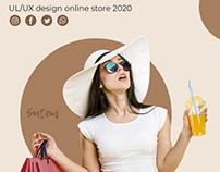 Website design for online clothing store