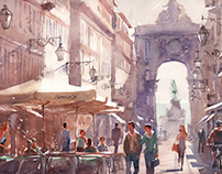 Lisbon Watercolors