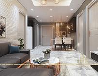 Thiết kế nội thất chung cư An Bình City - Căn B5 A6