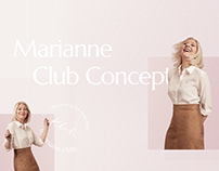 Marianne – Visual style for Lifestyle Club