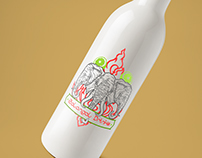 Galangal Drinks label