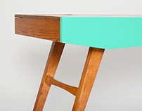 10˚ Desk - Reclaimed Wood Desk Design