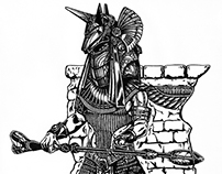 Anubis from Stargate | pen drawing | 2011