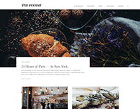 The Foodie Blog Editorial Web Design Concept