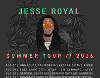 JESSE ROYAL | POSTER ART| SUMMER TOUR 2016
