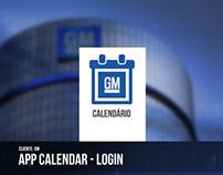 Tablet APP - Calendário General motors