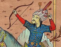 Efrasiyab Miniature Painting