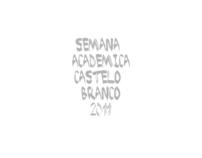 Poster Semana Académica Castelo Branco  (Academic Week)