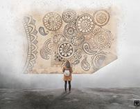 Composting   Digital Art : Her Love for Mandalas.