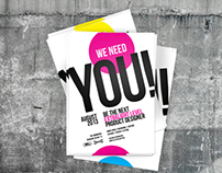 """We Need You"" l Product Designers Competition."