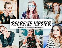 Free Recreate Hipster Mobile & Desktop Lightroom Preset